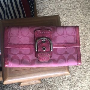 Coach wallet - pink